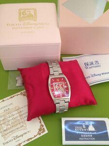 即決★激レア★TDS 東京ディズニーシー 6周年アニバーサリー 6th Anniversary★ ウォッチ 腕時計 ★限定222個