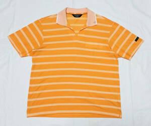 Munsingwear 日本製 ボーダーポロシャツ Mサイズ マンシングウェア ゴルフウエア GRANDSLAM