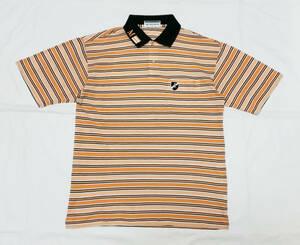Munsingwear 日本製 ボーダーポロシャツ Mサイズ相当 マンシングウェア ゴルフウエア GRANDSLAM