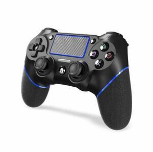 アップグレード版 PS4/3 コントローラー 6軸ジャイロセンサー イヤホンジャック タッチパット 搭載 大容量バッテリー Bluetooth ワイヤレス
