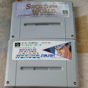 ソードワールド ワールドヒーローズ SFC スーパーファミコン ソフト