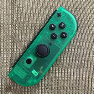 動作確認済 Nintendo Switch Joy-Con スケルトン グリーン 右 R + ニンテンドースイッチジョイコン コントローラー