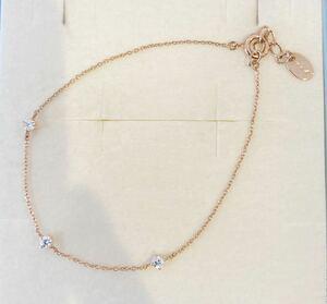 新品 正規品 canal4℃ カナルヨンドシー ブレスレット ダイヤモンド シルバー 箱 リボンラッピング ゴールド ダイヤ