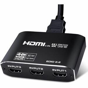 【新品未使用】ROTECK HDMI切替器 3入力1出力 4K 60Hz HDR