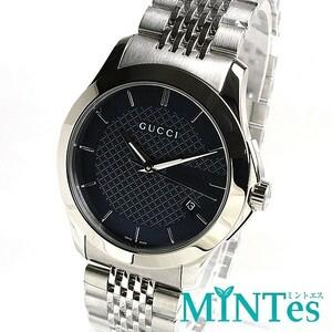 Gucci グッチ Gタイムレス メンズ 腕時計 クォーツ 126.4 未使用品 ブルー 青 シルバー 男性 紳士 シック プレゼント ビジネス 人気