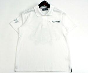 エドハーディー Ed Hardy スカル×ロゴプリント 半袖ポロシャツ サイズM 0714c