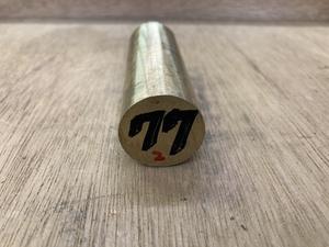 Φ25×77mm ② □ 真鍮丸棒 C3604 カドミレス 黄銅 金属材料 端材 残材 DIY ハンドメイド