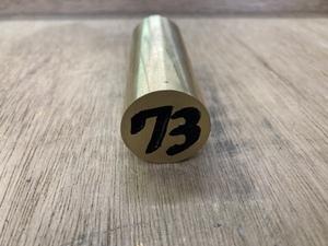 Φ25×73mm □ 真鍮丸棒 C3604 カドミレス 黄銅 金属材料 端材 残材 DIY ハンドメイド