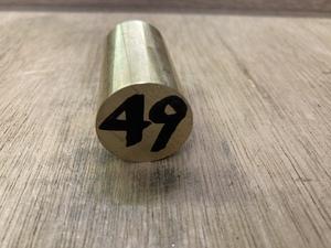 Φ25×49mm □ 真鍮丸棒 C3604 カドミレス 黄銅 金属材料 端材 残材 DIY ハンドメイド