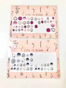 ネイルシール 花柄 ピンク ブルー フェリシモ ネイルアート 桜