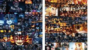 鬼滅の刃 無限列車編 全カットポスター 最終上映記念 Ufotable 煉獄杏寿郎 猗窩座 セット B1サイズ 送料込み