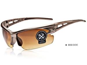 茶色 割れない スポーツサングラス UV400夜視鏡☆サイクリング ランニング アウトドア