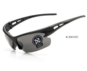 黒色 割れない スポーツサングラス UV400夜視鏡☆サイクリング ランニング アウトドア