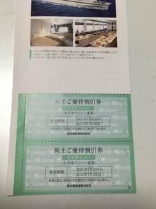 名鉄株主優待 / 太平洋フェリー運賃割引券1枚
