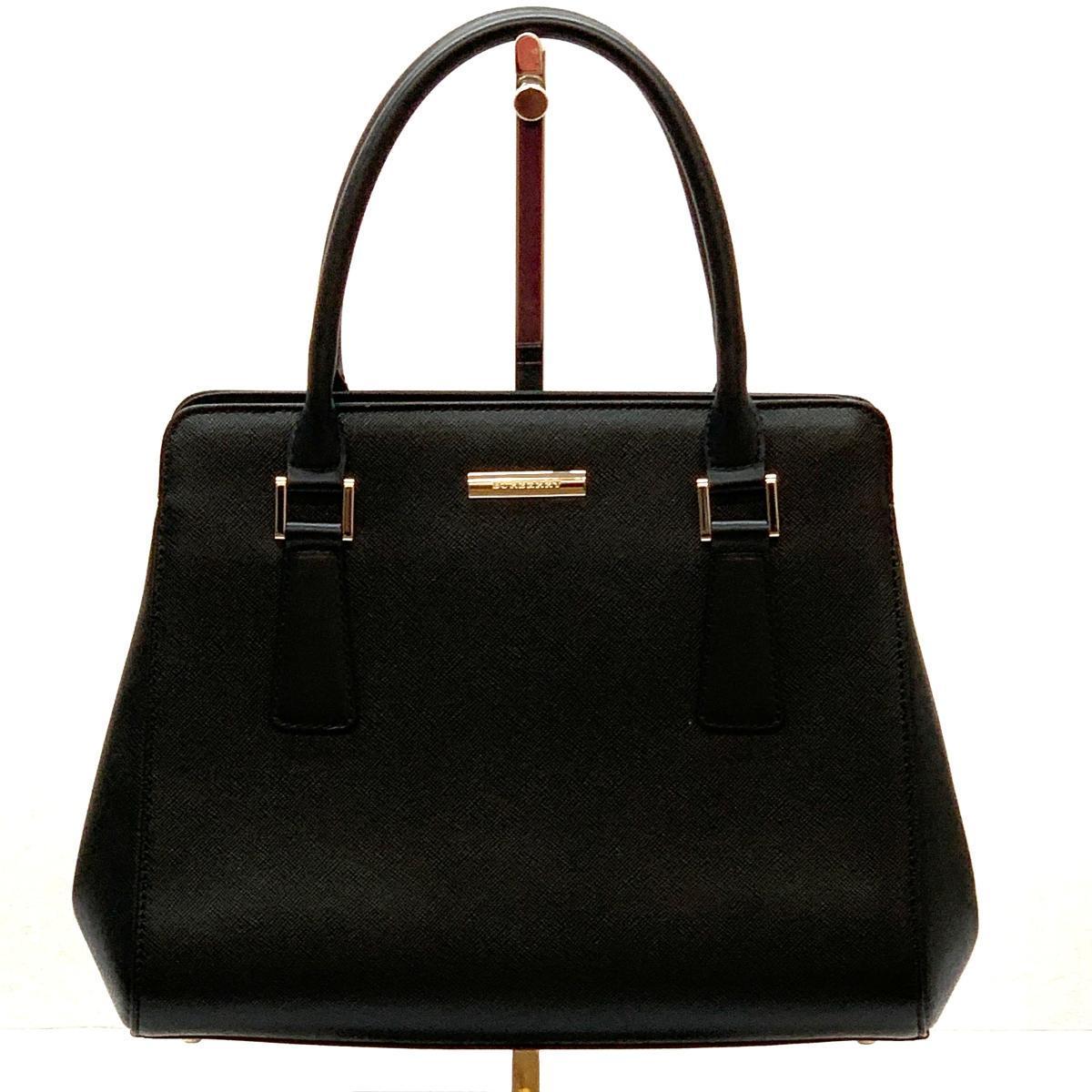 ◆ BURBRRY Burberry Handbag Inner Nova Check Leather ◆ black / Black / Black / Bag / Ladies / JY1013 Burberry & Bag, Bag & Handbag