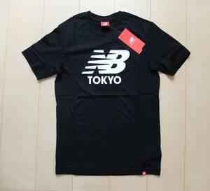 新品! ニューバランス New Balance 黒Tシャツ メンズ ロゴT S レディース