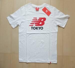 新品! ニューバランス New Balance 白Tシャツ メンズ ロゴT  M