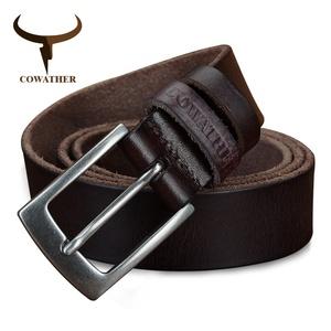 【最安】 メンズベルト COWATHER 海外ブランド 高級 レザー 本革 牛革 ヴィンテージ 選べる3色 サイズ選択 ビジネス 高品質
