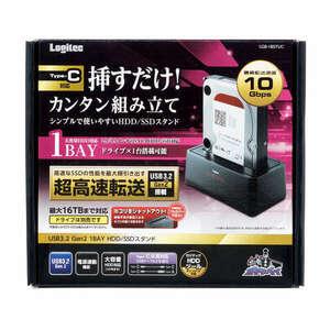 2.5/3.5インチ両対応 HDD/SSDを挿すだけで簡単に組立できるシンプルで使いやすい USB3.2 Gen2接続 HDD/SSDスタンド : LGB-1BSTUC