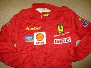 ■フェラーリ F355 チャレンジ 純正 OMP レーシングスーツ サイズ50 新古品 Ferrari F355 Challenge Driving Suit Race suit 348 360■