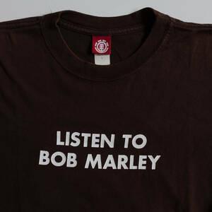 超レア L ムラジュン着 本物 ヴィンテージ90s USA製 ELEMENT エレメント LISTEN TO BOB MARLEY ボブ・マーリー Tシャツ shantii シャンティ