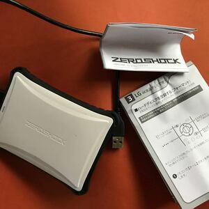 【中古】ELP-ZS010UWH [ZEROSHOCKハードディスク ELP-ZSUシリーズ 1TB ]外付けHDD PS4対応