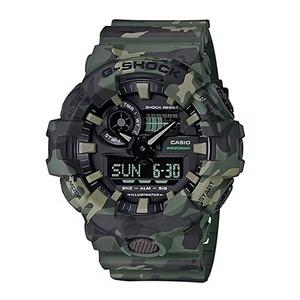 【海外モデル】カシオ G-SHOCK Gショック メンズ 腕時計 カモフラージュ 迷彩 ミリタリー 大きいケース アナデジ 多機能 緑 GA-700CM-3A