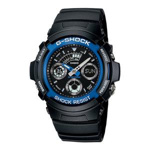 新品 即納 カシオ 時計 メンズ 腕時計 アナデジ 多機能 ブラック AW-591-2A