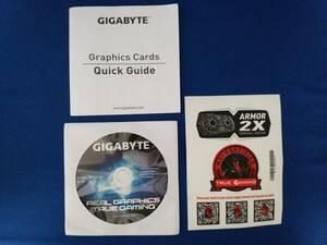 GIGABYTE GeForce GTX 1070 GV-N1070G1 GAMING-8GD ドライバディスク,説明書,シール