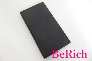 ブルガリ BVLGARI メンズ 二つ折り 長財布 札入れ クラシコ 黒 ブラック グレイン レザー ロゴ ロング ウォレット 【中古】bs2258
