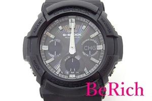 カシオ CASIO G-SHOCK メンズ 腕時計 GAW-100B ブラック 黒 文字盤 SS 樹脂 ブレス クォーツ QZ ウォッチ 【中古】ht3858