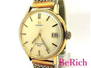 オメガ Cal611 136.011 シーマスター600 アンティーク メンズ 腕時計 デイト 手巻き SS ゴールド文字盤 OMEGA 【中古】【送料無料】bt2139