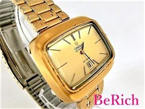 オメガ Cal684 デヴィル アンティーク メンズ 腕時計 シンボルデイト 自動巻き AT SS ゴールド文字盤 OMEGA 【中古】【送料無料】 bt2011