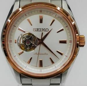 セイコー SEIKO プレサージュ 4R38-00S0 メンズ腕時計 自動巻き 裏スケ 箱有 店舗受取可