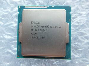 Intel XEON E3-1241 v3 3.5GHz/4c8t/SR1R4/TDP 80W/Haswell/LGA1150