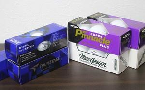【まとめ売り】 ゴルフボール 3個入り×7箱 21球セット Pinnacle/TOUR STAGE/MacGregor ゴルフ 未使用 長期保管品