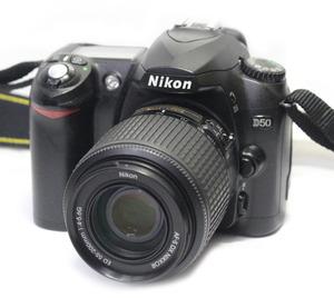 Nikon ニコン デジタル一眼レフカメラ D50 ボディ + AF-S DX NIKKOR ED 55-200㎜ 1:4-5.6G レンズ 付属品一式 中古品 動作確認済み 現状