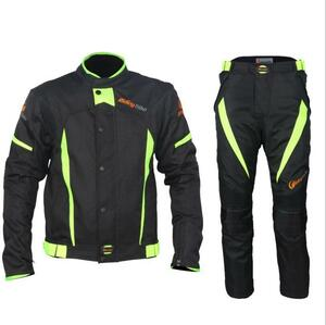 新作 上質 プロテクター付 サイズ色選択可S~3XL 新品メッシュバイクジャケット レーシング ライダース バイクウェア メンズ 黒