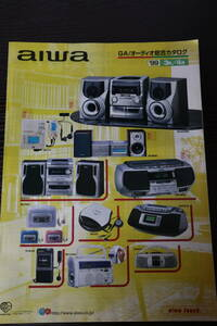 * catalog aiwa( Aiwa )XR-H330MD/MD90/MD85/H33MD/XG-K370/XG-S909/AM-F70 etc. 1999 year player / portable MD/ audio C3145