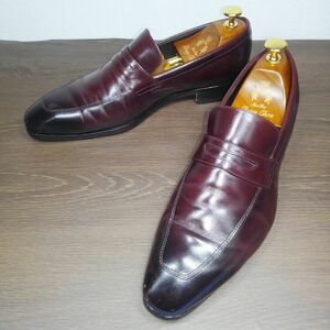 ■◎Madras★ローファー★25cm★赤茶★バーガンディ★マドラス★日本製★メンズ★レザー★靴★革靴★ビジネスシューズ