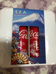 コカコーラ スリムボトル 富士山デザイン2種類(観賞用)