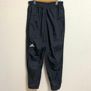 【美品 XL相当】adidas ウインドブレーカー パンツ アディダス ブラック トレーニングパンツ ランニング ジョギング
