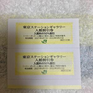 即決! JR東日本株主優待◆東京ステーションギャラリー入館割引券2枚◆2022年5月31日まで◆送料63円