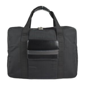 Dunhill ダンヒル ビジネスバッグ ナイロン レザー ブラック ブリーフケース【本物保証】
