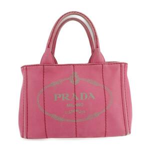 PRADA プラダ カナパ ミニ B2439G ハンドバッグ コットンキャンバス PEONIA ピンク ショルダー 2WAY トートバッグ【本物保証】