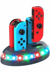 充電スタンド スイッチ充電スタンド 4台同時充電可能 Nintendo Switch用 Joy-Con 急速充電ホルダー 充電
