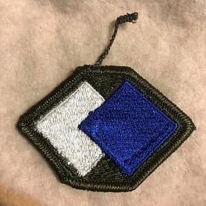 ワッペン グレー 青 白 刺繍ワッペン 第96作戦支援旅団 アメリカ軍 U.S. ARMY