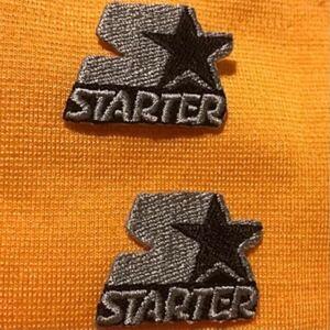 ワッペン アイロンワッペン 2枚セット STARTER BLACK LABEL スターターブラックレーベル 星 刺繍ワッペン