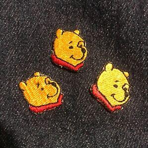 ワッペン Disney ディズニー プーさん アイロンワッペン 3枚セット 刺繍ワッペン くまのプーさん pooh