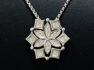 TASAKI 田崎真珠 K18WG ダイヤモンド 0.37ct 2way ネックレス ホワイトゴールド ペンダント アクセサリー